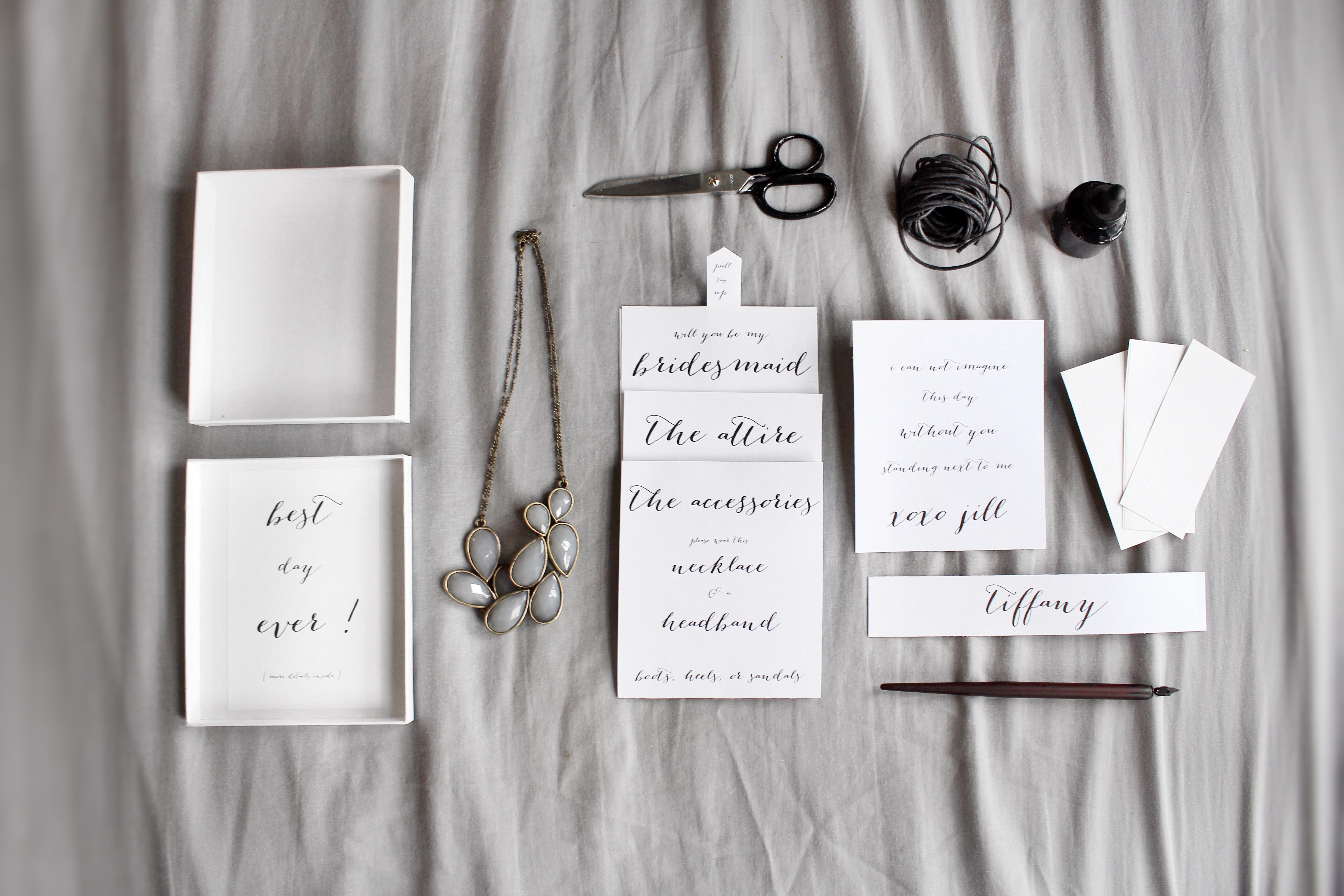 img_2800 unique bridesmaid invites jill absten cox,Unique Bridesmaid Invitations