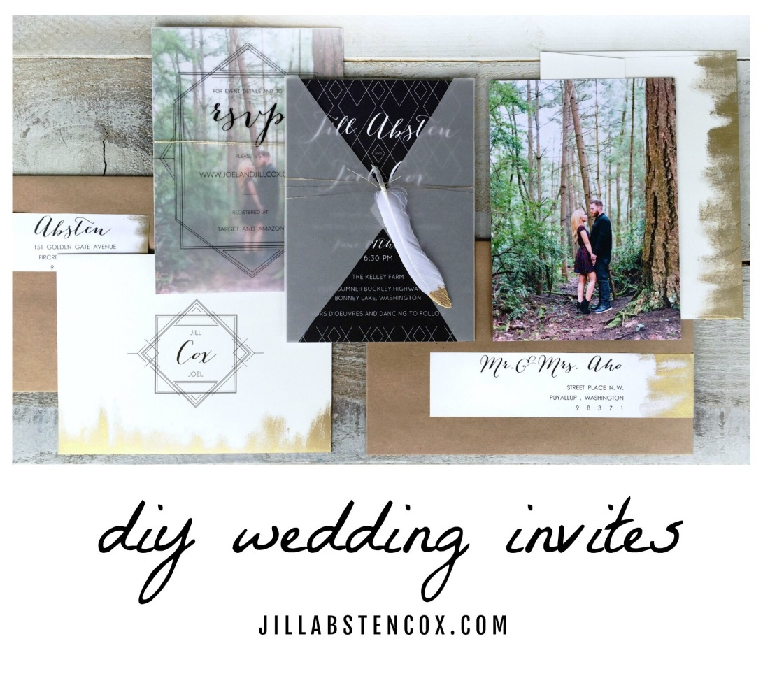 DIY WEDDING INVITES