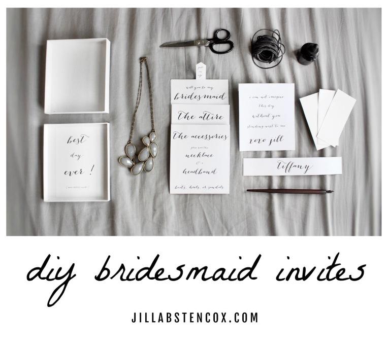 DIY BRIDESMAID INVITES