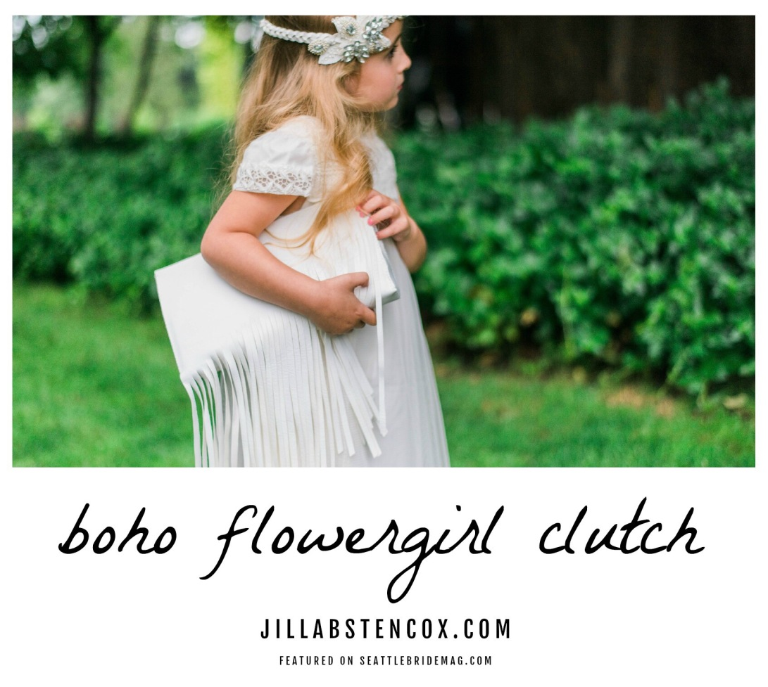 BOHO FLOWER GIRL CLUTCH DIY
