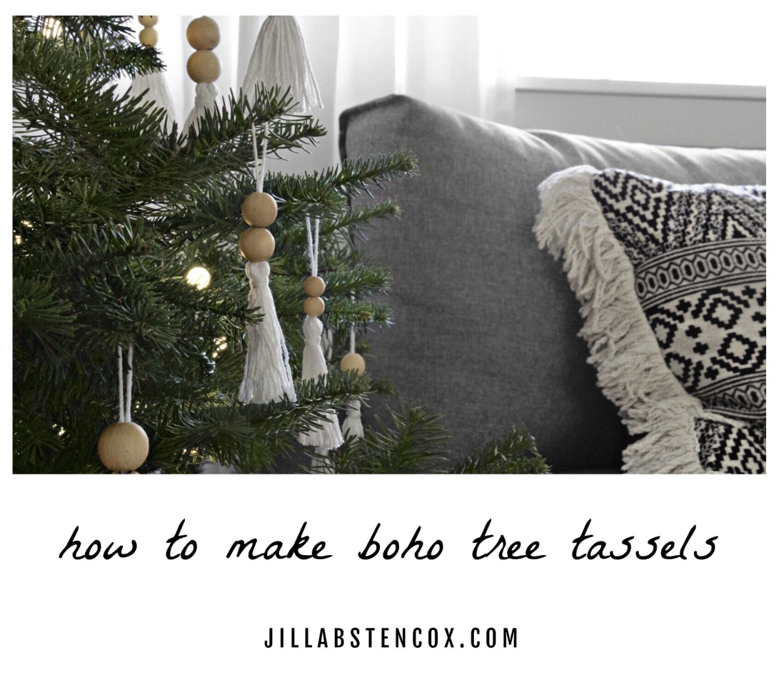 How to Make Boho Tree Tassels
